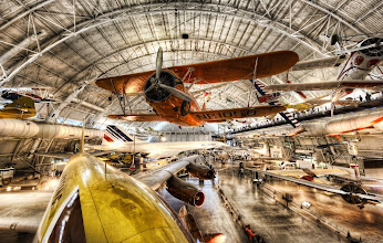 Photo: Aerophilia  This wondrous place is the new Air and Space Museum in DC. I thought I knew a lot about planes until I got here. I would recognize this and that, but the whole gestalt of the place was completely overwhelming. Overwhelming in an awesome way, of course.  from the blog www.stuckincustoms.com