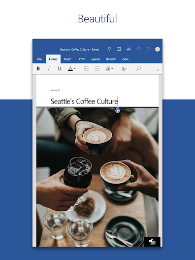 Microsoft Word: Write, Edit & Share Docs on the Go 16.0.13029.20182 Screenshots 6