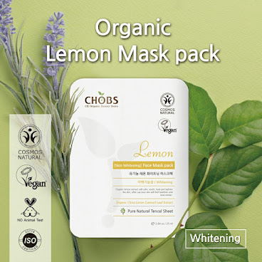 (CHOBS) Organic Tencel Mask - Lemon 有機天絲面膜 - 檸檬