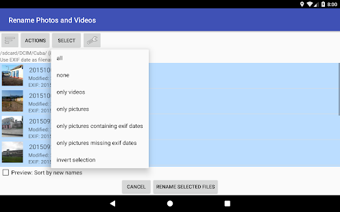 Rename Photos and Videos Screenshot