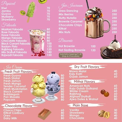 Creamy Heaven menu 2