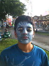 Photo: Avatar Mask Face Painting by Paola Gallardo from http://www.BestPartyPlanner.net