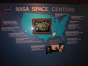 Photo: Map of the major NASA centers