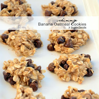 Skinny Banana Oatmeal Cookies.