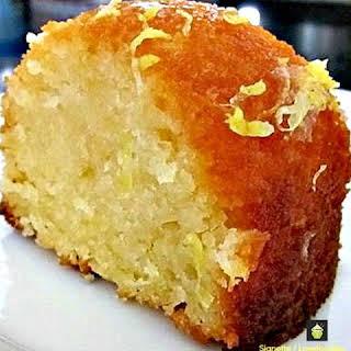Moist Lemon or Orange Pound Loaf Cake.