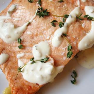 Salmon with Thyme and Three-Lemon CrèMe FraîChe Recipe