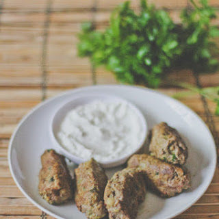Lamb Kofta with Spicy Yogurt Sauce