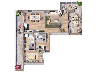 Appartement 3 pièces 63,05 m2