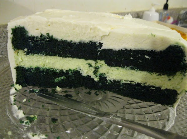 Green Velvet Cheesecake Cake Recipe