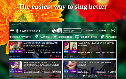 Kakoke - sing karaoke, voice recorder, singing app screenshot 8