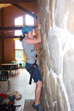 Photo: The Chimney in Tsani Dining Hall can double as an indoor rock-climbing wall.
