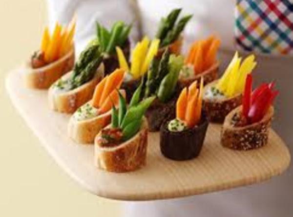 Veggie Dip In Baguette Rounds Recipe