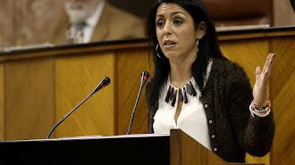 La presidenta del Parlamento de Andalucía, Marta Bosquet, en una intervención.