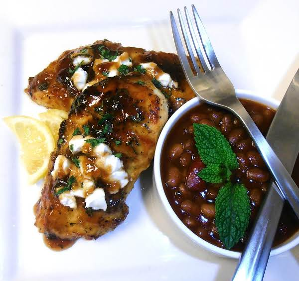 Grilled Figgy Chicken With Goat Cheese