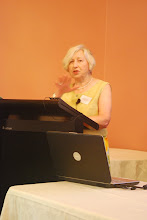 Photo: Maureen Collins, DGS Australia Secretary, gives her opening remarks