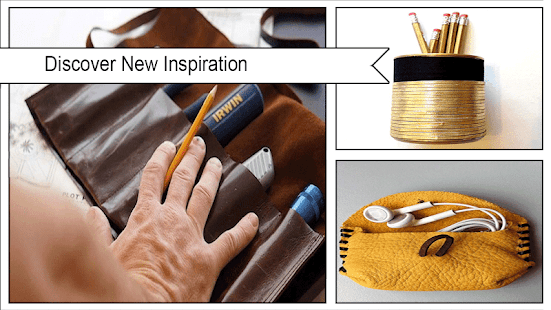 Easy DIY Leather Cable Holder - náhled