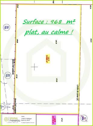 Vente terrain 968 m2