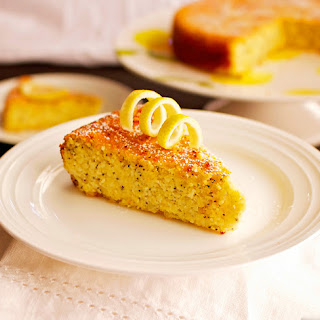 Lemon Poppy Seed Almond Cake ~ GF