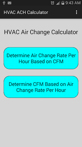 HVAC Air Change Calculator