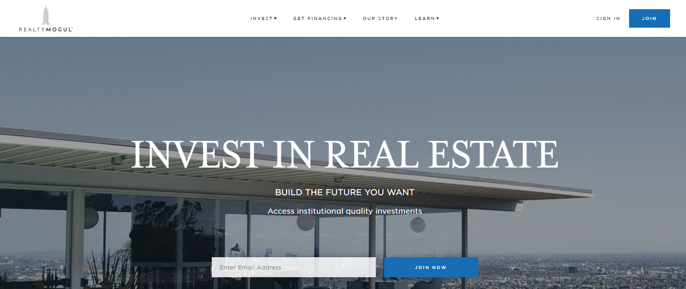 Realty Mogul - real estate crowdfunding site