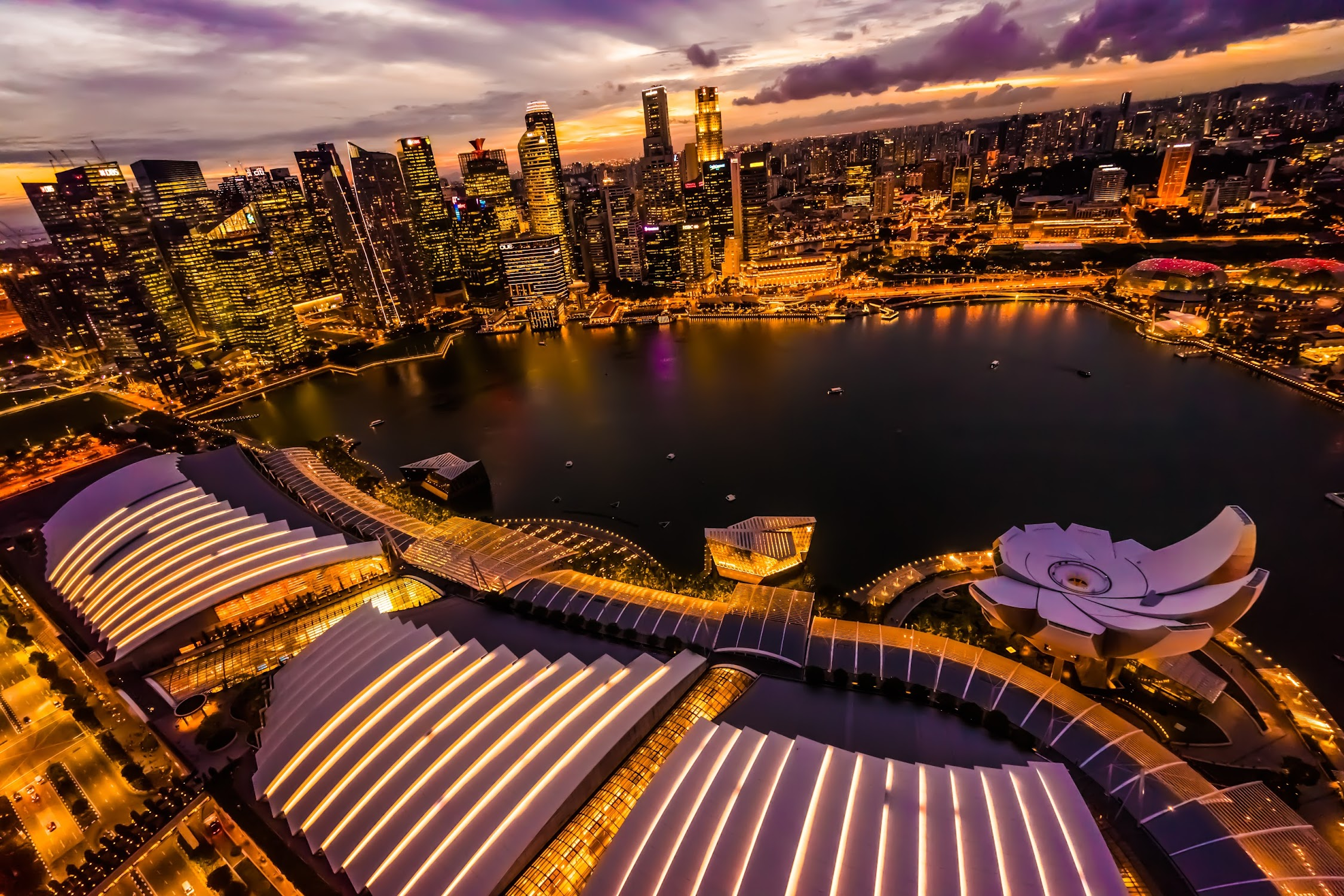 Singapore Marina bay Sands SkyPark Observation Deck night view2