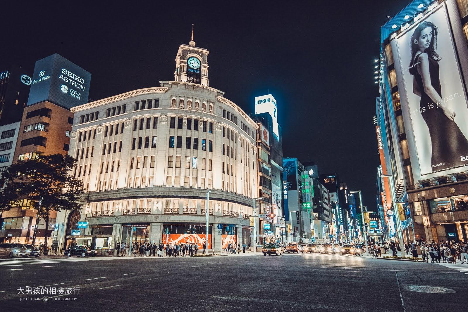 銀座有名的鐘樓建築,是來東京銀座必拍的都市夜景建築之一。