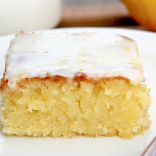 Lemon Blondies with Lemon Glaze.