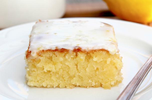 Lemon Blondies with Lemon Glaze Recipe