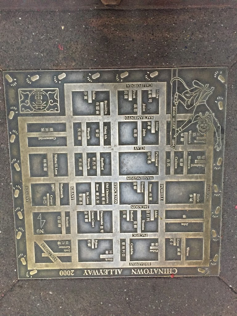 Read The Plaque San Francisco Chinatown Map Plaque