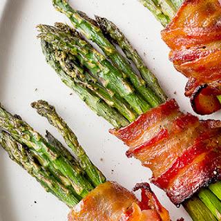 Brown Sugar Bacon-wrapped Asparagus.