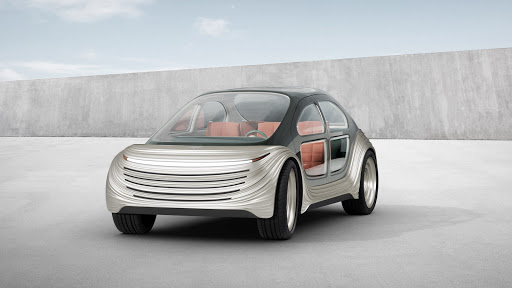 This sleek, pollutant-free electric vehicle purifies the air as it drives