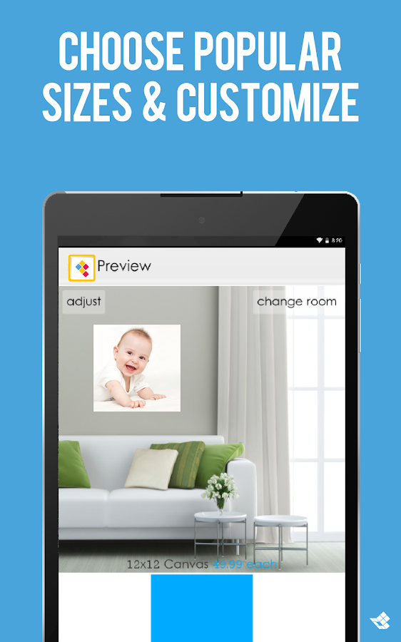 canvas photo print wall decor android apps on google play