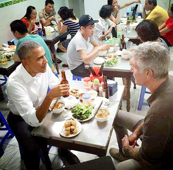 Image result for bún chả obama