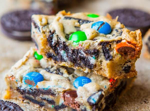 Delicious M&m And Oreo Cookie Bars