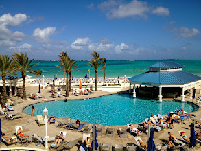 Photo: The main pool, swim up bar, and gorgeous ocean beyond.