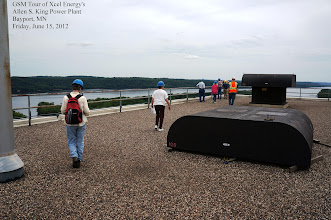 Photo: The tour for our half of the group starts on the roof.  Hard hats, safefy glasses, and ear protection required.