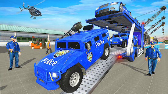 Grand Polizei Wagen Transport LKW Spiele Screenshot