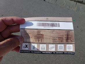 Photo: ticket to enter Duomo