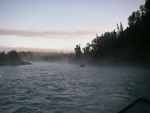 Photo: King salmon fishing on a early June morning in Eagle's Nest on the Kasilof river.