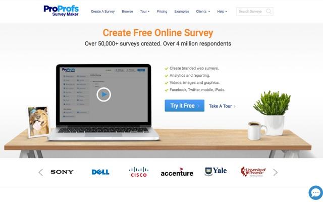 proprofs survey maker chrome web store