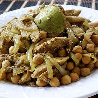 Curry Chick Peas with Chicken Recipe