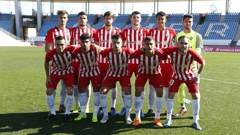Un once del Almería B.