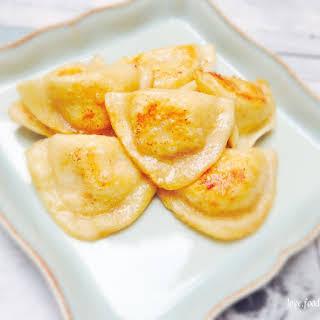 Brown Butter Seared Potato Perogies.