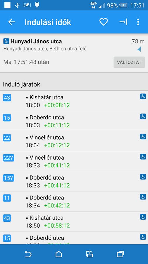 Debreceni Menetrend - screenshot