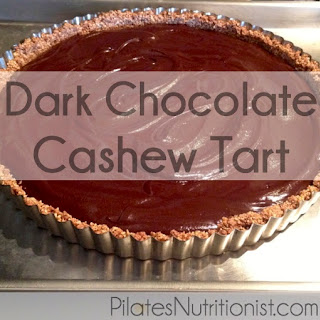 Dark Chocolate Cashew Tart (grain-free)