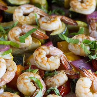 Sheet Pan Balsamic Shrimp and Summer Vegetables   Sheet Pan Suppers Review.