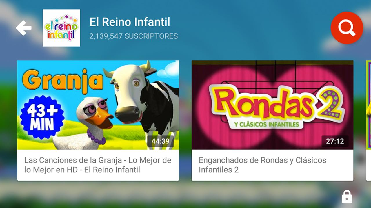YouTube Kids: captura de pantalla