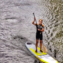Rowing by Stefano Ruzzini - Sports & Fitness Watersports ( rowing, sports, berlin, paddle, river )