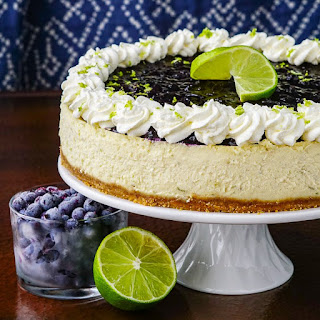 Blueberry Lime Cheesecake.