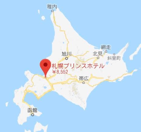 地図:札幌プリンスホテル